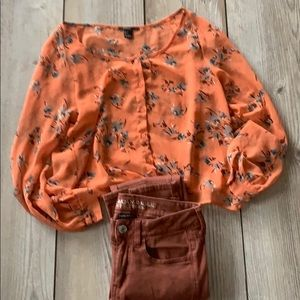 EUC Forever 21 autumn colored blouse